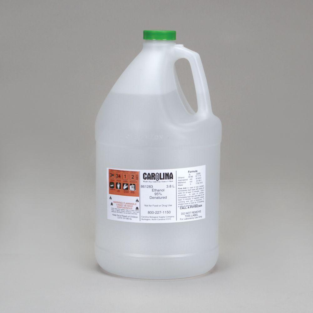 Absolute ethyl alcohol bottle vintage chemical bottle science lab - Ethanol 95 Laboratory Grade 3 8 L