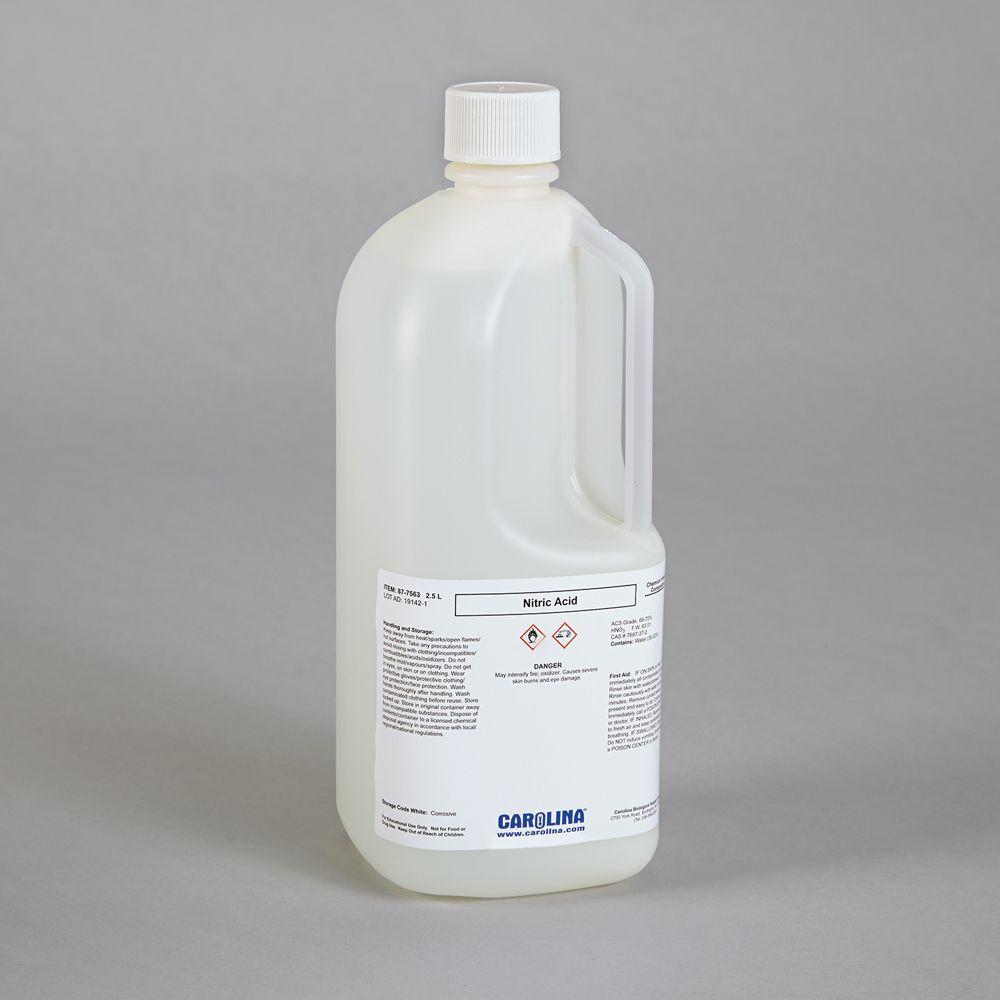 Nitric Acid 156 M 70 vv Plastic Coated Safety Bottle ACS