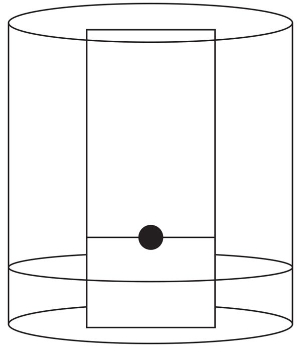 Figure 4 Correct location of the dot of a sample on the chromatography plate.