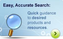 Easy, Accurate Search: Quick guidance to desired products and resources.