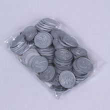 Plastic Quarters, Pack of 100
