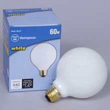 Light Bulb, White, 60W, each