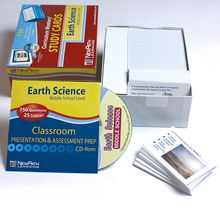 Earth Science Study Cards and Interactive CD-ROM Set