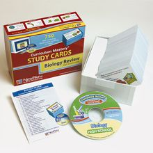 Biology Study Cards and Interactive CD-ROM Set