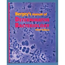 Bergey's Manual of Determinative Bacteriology, Book