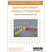 Carolina Investigations® for AP® Chemistry: Spectrophotometric Analysis of Food Dyes Digital Teacher's Manual