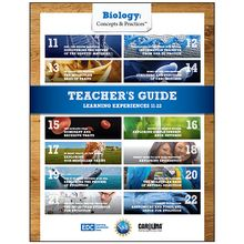 Biology: Concepts & Practices™: Student Learning Experiences 11–22 Teacher's Guide eBook, 1-Year License