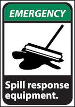 Spill Response Equipment Safety Sign