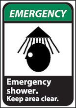 Emergency Shower Safety Sign