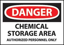 Chemical Storage Area Warning Sign