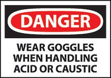 Chemical Goggles Warning Sign