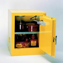 Compact Flammables Safety Cabinet, Self-Closing Doors