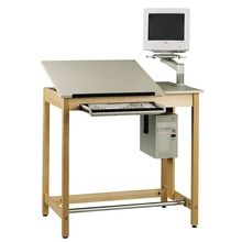 Drawing Table System with Plain Apron