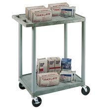 Economy 2-Shelf Lab Cart, Black