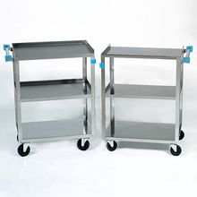 Stainless-Steel Laboratory Cart, 300-lb Capacity