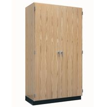Wall Storage Cabinet with Hinged Oak Doors, 48