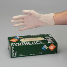 Latex-Free Gloves, Powdered, Small, Dispenser of 100