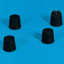 Rubber Stoppers, Solid, Size 8, Top: 41mm, Bottom: 33mm, Approx. No. per lb: 12