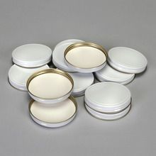 White Enamel Metal Screw Caps
