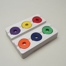 Ring Magnets, Assorted Colors, Pack of 6