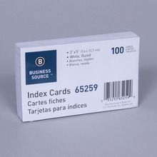 Card, 3 x 5 in, Pack of 100