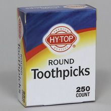 Toothpick, Round, Box of 250, Case of 48