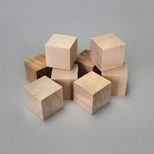 Block, Wood, 1 inch Cube, Pack of 8