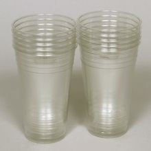 Cup, Plastic Clear, 20 oz, Pack of 10