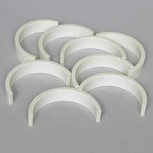 Barrier, Curved, PVC, Pack of 8