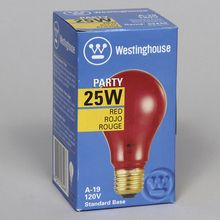 Lightbulb, Transparent, Red, 25 W