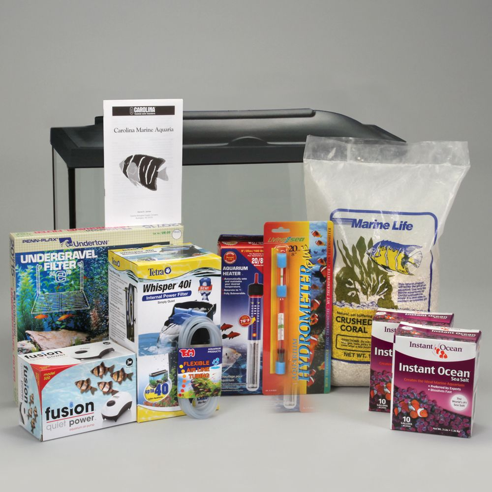 Marine aquarium kit basic 20 gal without animals for Saltwater fish tank kit