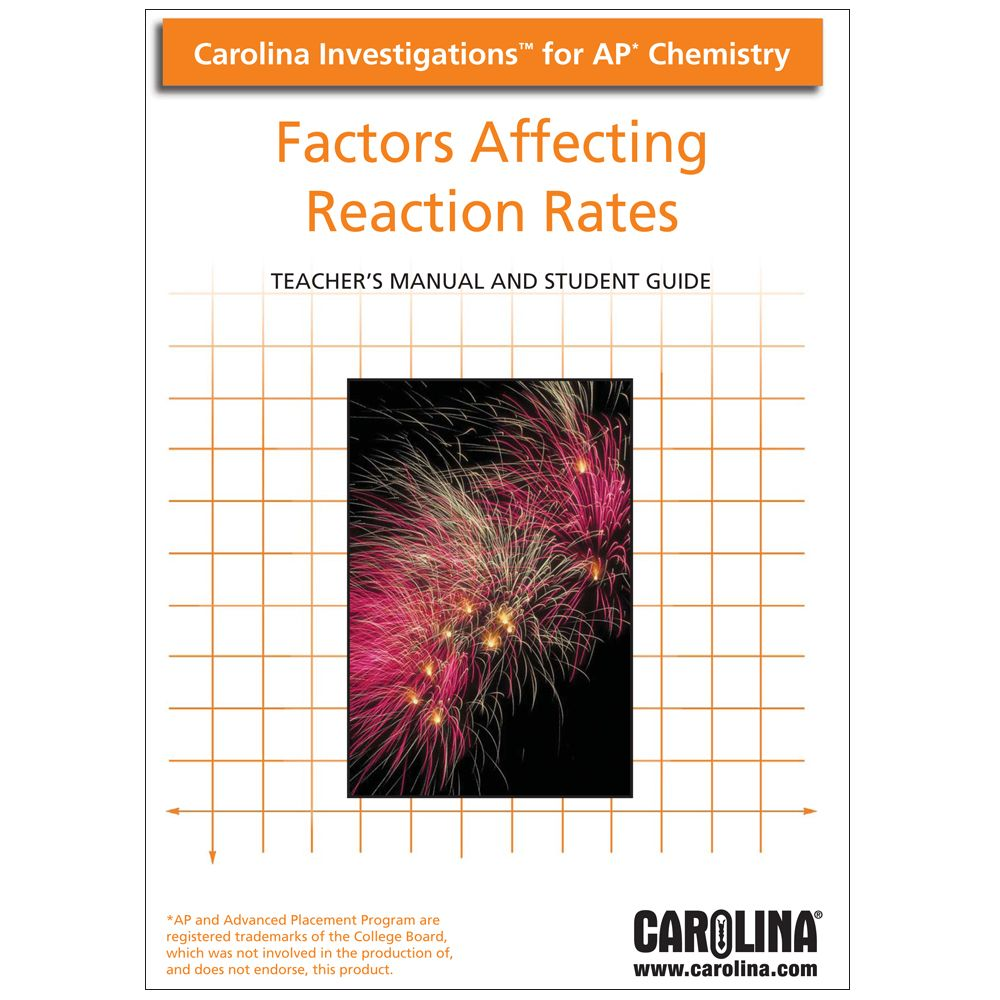 rates of reaction lab investigation In this lab, students experience the effect of surface area on the rate of a chemical  reaction  test tubes containing chemical reactions related.