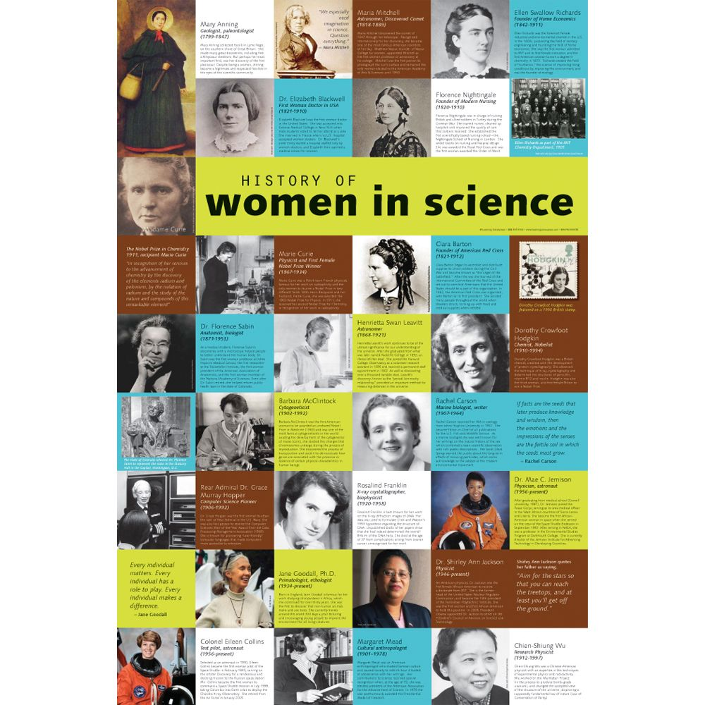 History of Women in Science Poster | Carolina.com