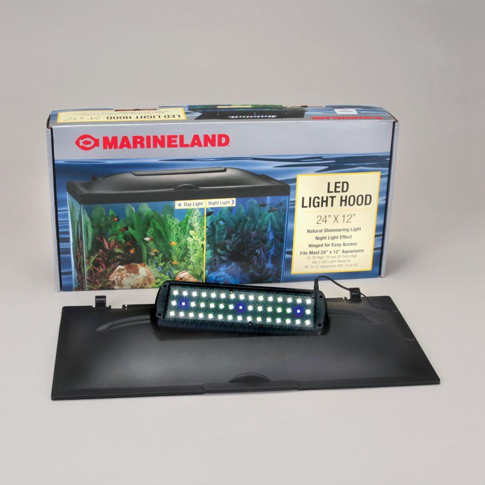 Aquarium Hood, Full, LED, for 20- or 55-gal Tank Carolina.com