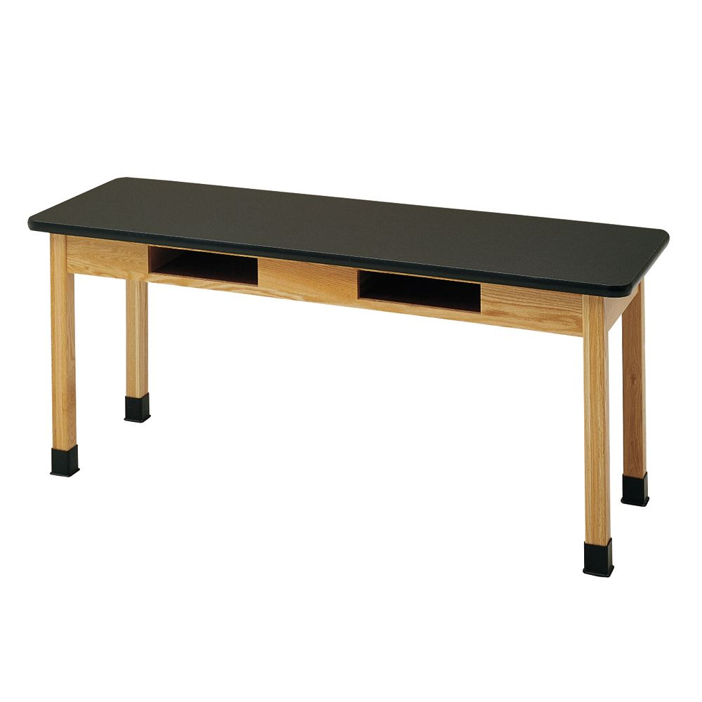 Student table with book compartments and plastic laminate for Table student