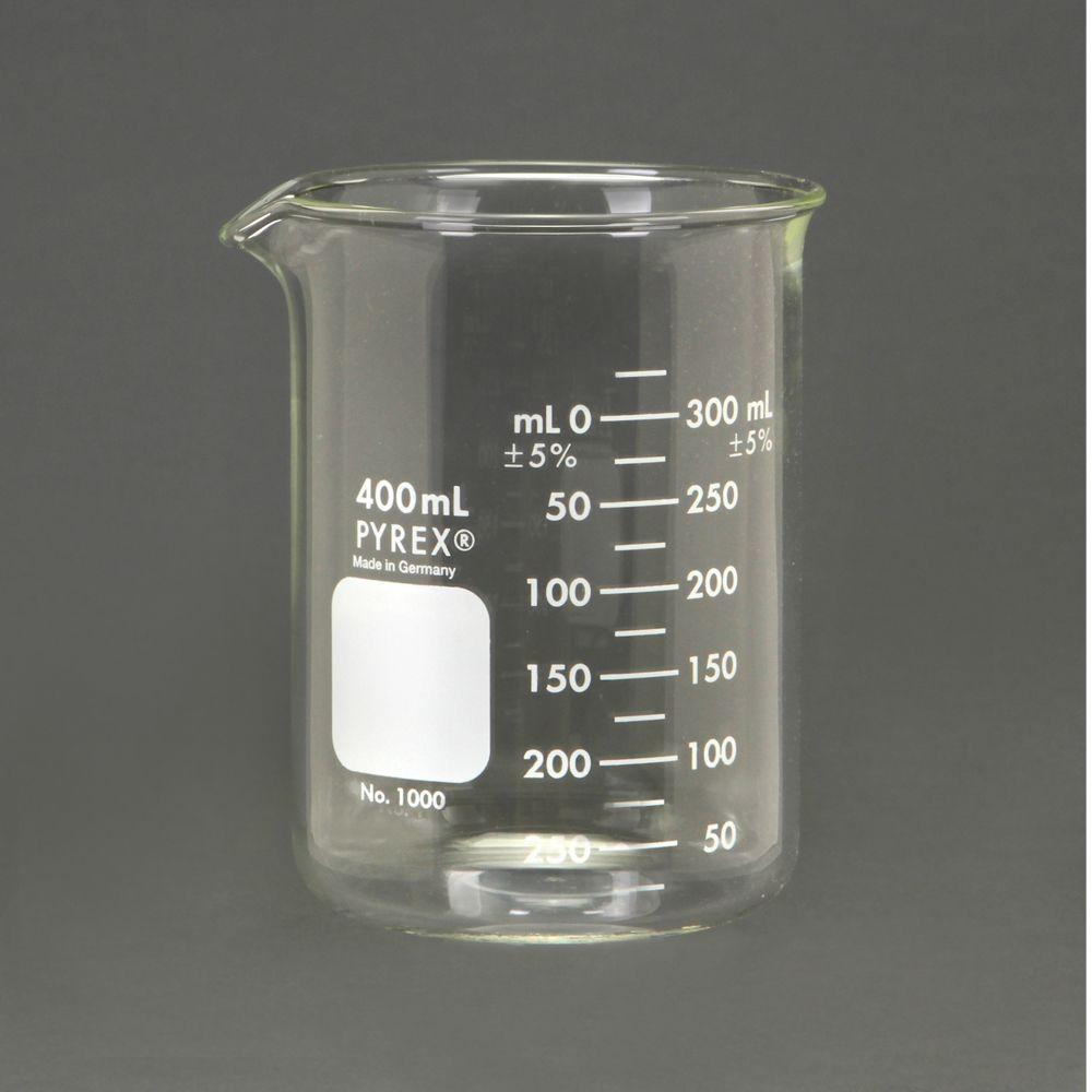 pyrex glass griffin beaker low form measuring 400 ml. Black Bedroom Furniture Sets. Home Design Ideas