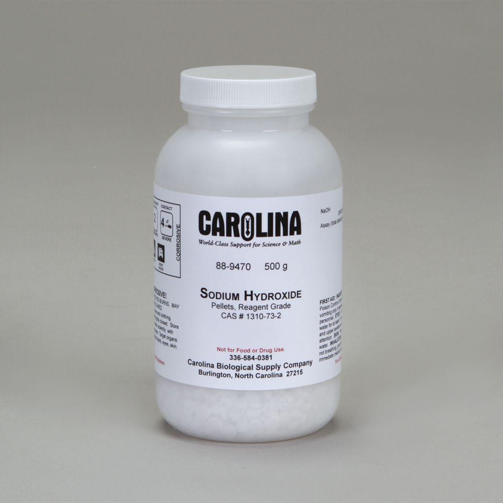 Sodium Hydroxide Pellets Reagent Grade 500 G Carolina Com