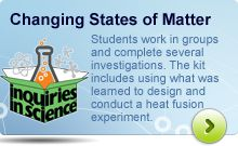Help your students understand the changing states of matter with the Inquiries in Science®® kit!