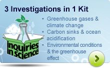 Help your students understand climate change with the Inquiries in Science®® kit!