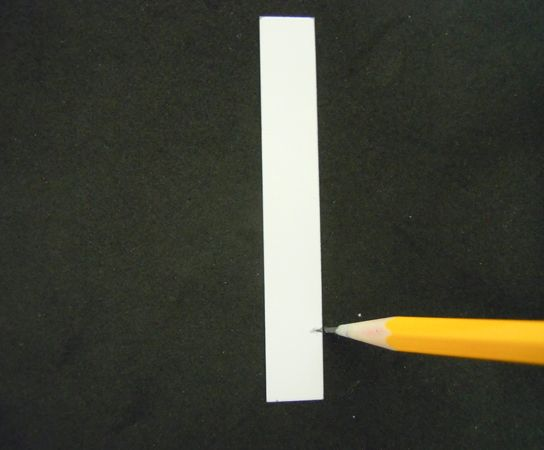 Figure 2 Draw a line across the paper with a pencil